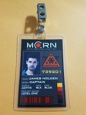 The Expanse ID Badge-Captain James Holden cosplay prop costume