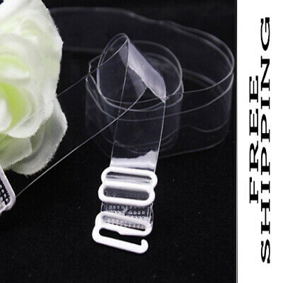 3 Pairs/set Clear Straps Transparent Invisible Detachable Adjustable For Summer