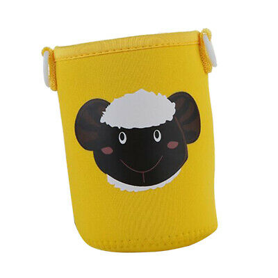 400-600ml Bottle Sleeve Cup Cover Thermal Insulation Pouch Bag Yellow Sheep