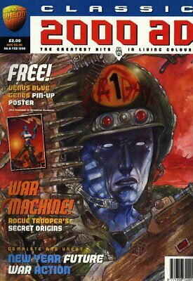 """2000AD ft JUDGE DREDD presents """"CLASSIC 2000AD"""" ISSUE 6 with GIFT - 1996 - VGC"""