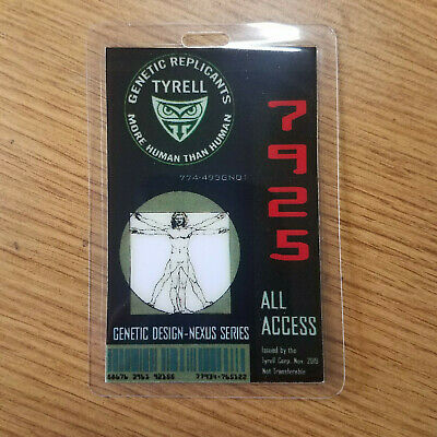 Blade Runner ID Badge-Tyrell Genetic Replicants All Access prop cosplay costume
