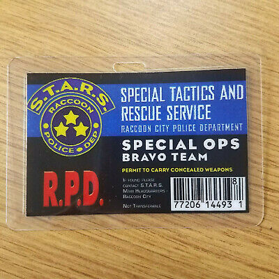 Resident Evil ID Badge-R.P.D Special Ops Bravo Team  prop costume cosplay