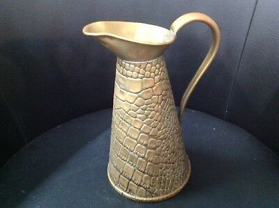 Vintage Joseph Sankey & Sons Copper Measure Jug Lizard Crocodile Skin Size 2