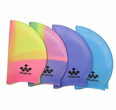 NEW Multicolour Colorful Plain  Water Sports Swimming Hat Caps