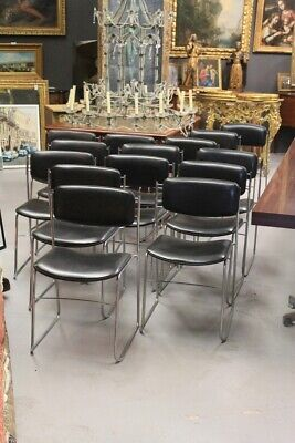 Group Of 14 Restaurant Chairs Office, Design 70'S / Group Chairs Office / Chairs