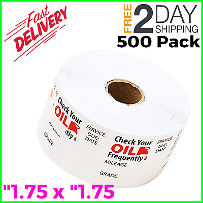 OIL CHANGE WINDSHIELD STICKERS Clear 500 Decals Static Cling Reminder Sticker