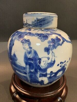 Antique Chinese Hand Painted Ginger Jar Qing Dynasty China