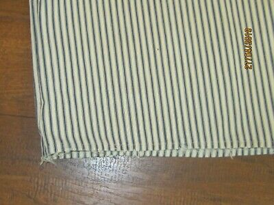 Vintage Blue White Stripe Ticking Fabric Long sack / crib cover???? 50 x 19 1/2