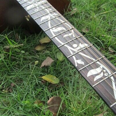 1pcs Tree Of Life Guitar Or Bass Fretboard Inlay Sticker Silver Color Ultra Thin