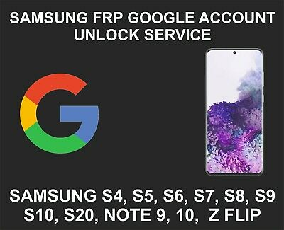 Samsung FRP Google Account Unlock, Samsung S5, S6, S7, S8, S9, S10, Note 9, 10