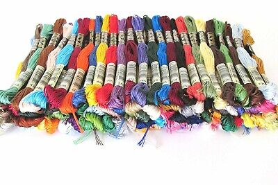 Lot Of 100 DMC Skeins Range of Colors Cross Stitch Floss for Embroidery