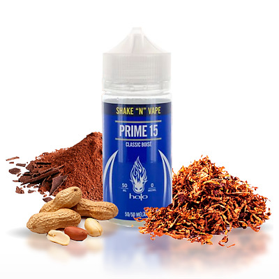 E-liquid HALO PRIME 15 - 50ml - 0mg - BOOSTER -ejuice vaper eliquid tabaco TPD