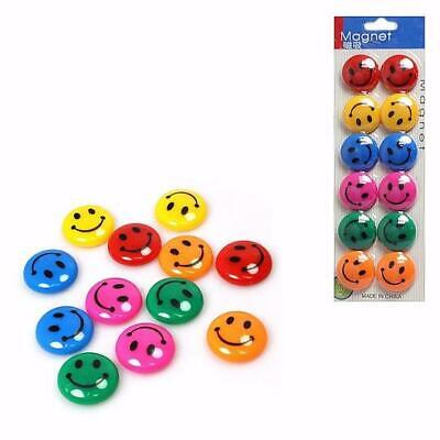 Smiley Face Fridge Magnets Magnet Notice Board Memo 2, 12, 24