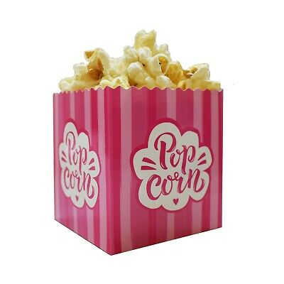 Small Mini Cute Pink Popcorn Boxes for Kids Parties / Samples / Exhibitions