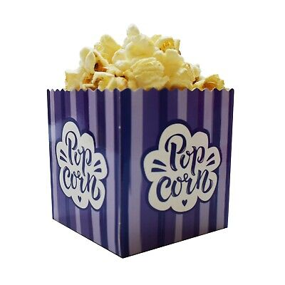 Small Mini Cute Purple Popcorn Boxes for Kids Parties / Samples / Exhibitions