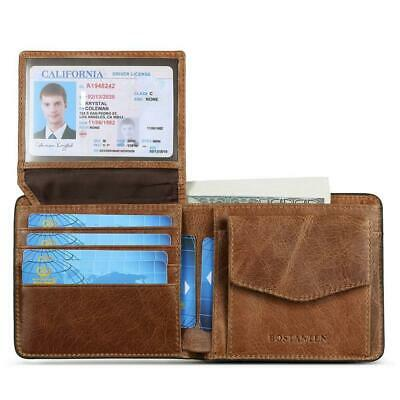 f63257be644f AG WALLETS MENS Genuine Leather L Fold Card and ID Unique Shape ...