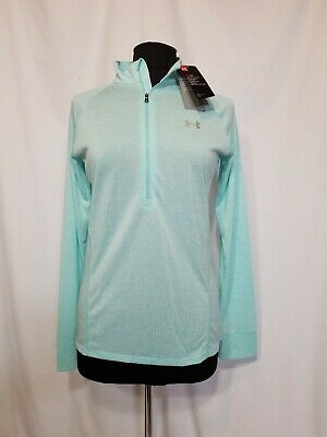 f8cab82a UNDER ARMOUR Women's Loose Half Zip Heat Gear Long Sleeve Shirt Top Size  Medium
