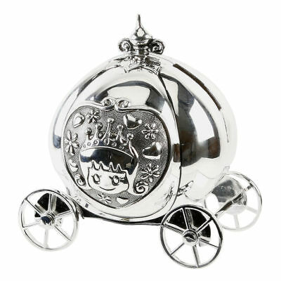 Silver Plated Cinderella Carriage Tooth /& Curl Set│Christening Present For Baby