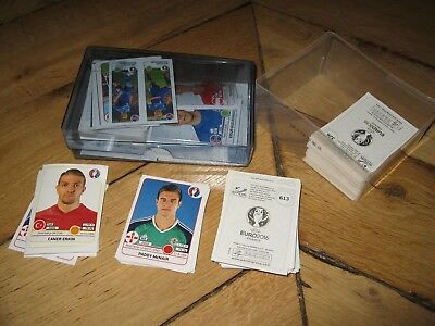 100 Vignettes Neuves Sans Doubles Panini Euro 2016 France Lot 1