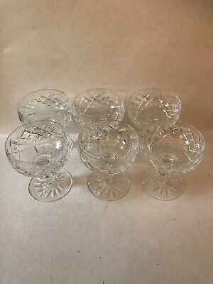 Waterford Crystal Donegal Dessert Set Of 6 Champagne Sherbet Glasses