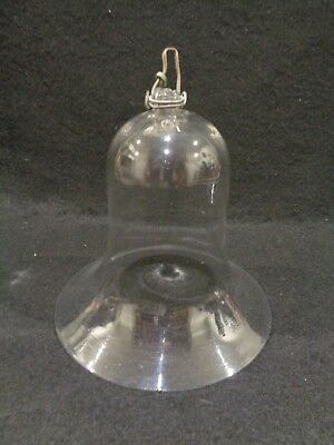 Antique Georgian Glass Smoke Bell - Oil Lamp Glass Shade
