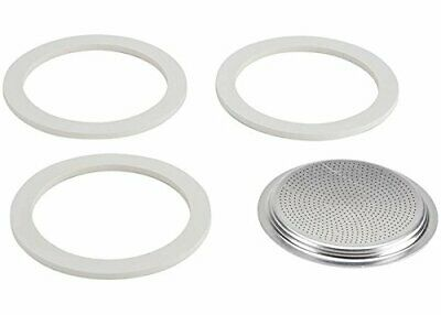 Bialetti 9 Cup Moka Express Replacement Gasket Seal Filter Rubber SET
