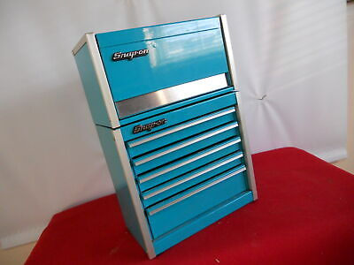 Snap-On turquoise Mini Micro Tool Chest Rare Limited Edition (Both Cabinets)