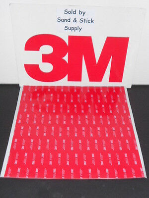 """3M 4910 Vhb Clear Foam Double Stick Mounting Tape Square ( 1 )Pc  8"""" X 8"""" .040"""