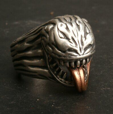 China 925 Silver Hand Carved Marvel Hero Ring Jewelry Gift Collection