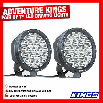 Pair 7inch Driving Lights Work Spot Offroad Slimline Bright IP68 Rated 4WD