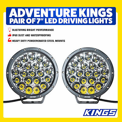 7inch Driving Lights LED Pair Slimline Pair New Strong Bright 4WD Outdoor