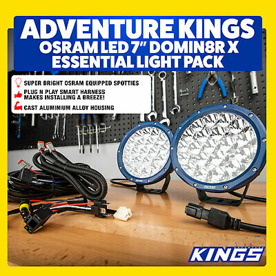 LED Offroad Spot 7inch Work Round 4x4 Spotlights Pair 4WD Driving Lights