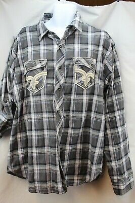 Vintage 70's Men's King Maker 3 XL Long Sleeve Button Up Shirt