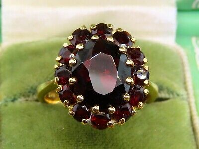 Vintage 18k gold ANTIQUE VICTORIAN EDWARDIAN BOHEMIAN GARNET ring
