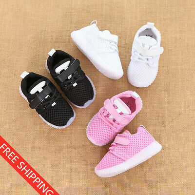 Cute Soft Breathable Baby Toddler Shoes Led Lights Children Rubber Shoes Sneaker