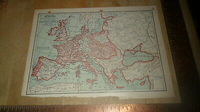 Original Map - Europe During The Time Of Napoleon I - Steinwehr 1894