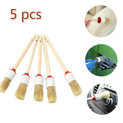 5 x Soft Detailing Brushes For Car Cleaning Vents, Dash, Trim, Seats, Wheels UK