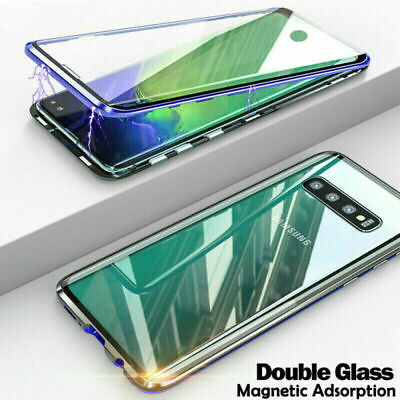Front+Back Tempered Glass Magnetic Case Metal Cover For Galaxy Note 9 S10/S8/S9+