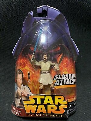 Hasbro Star Wars: Revenge of the Sith Obi-Wan Kenobi Slashing Attack Action...