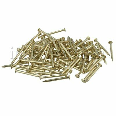 100pcs Antique Round Head Cooper Nail L18xD1.3mm for Furniture Hinge Brass