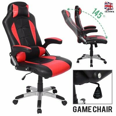 High Back Racing Gaming Swivel Study Office Executive Red Computer Desk Chair