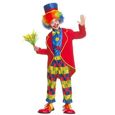Child Circus Clown Costume Boys Girls Fancy Dress Outfit