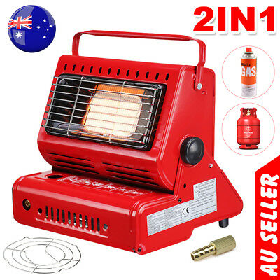 Portable Butane Gas Heater Camping Camp Tent Outdoor Camper Survival Heat 1.3KW