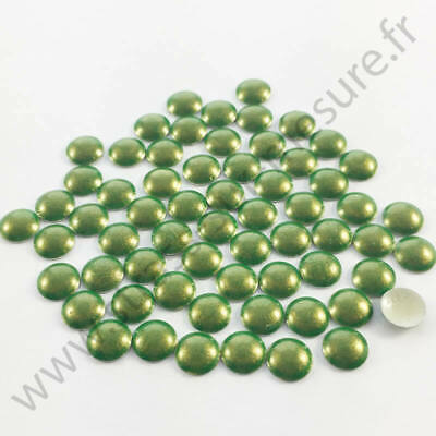 5mm 6mm 2mm 4mm Strass clou thermocollant rond hotfix CUIVRE NACRE
