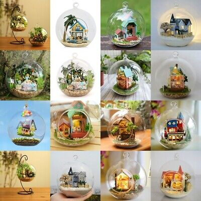 DIY Handcraft Miniature Project Kit Glass Ball Series LED Lights Dolls House