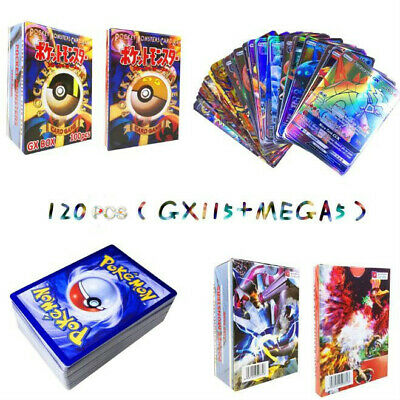120Pcs 115 GX + 5 MEGA Pokemon Cards Booster Box English Edition Break Point UK