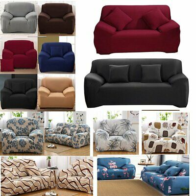 Elastic Sofa Covers Slipcover Settee Stretch Floral Couch Protector 1/3/4 Seater