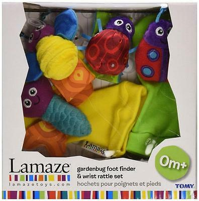 Tomy LC27634 Lamaze Garden Bug Foot Finder And Wrist Rattle Baby Toy Set - New
