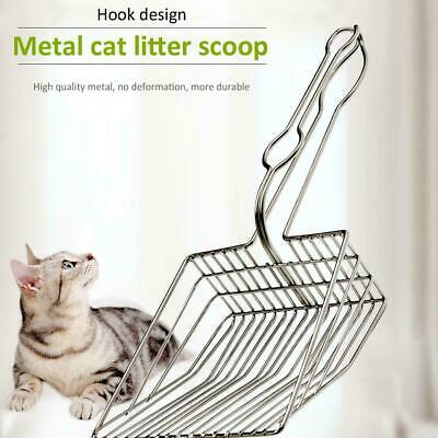 Plated Metal Large Size Cat Litter Shovel Scoop Cleaning Brush Random Color New