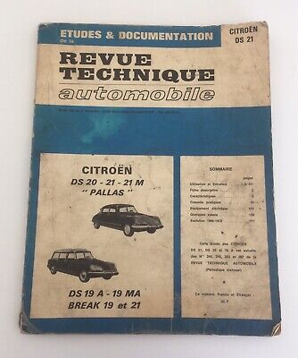 Revue Technique Automobile ancien CITROËN DS 20 - 21 - 21M DS Break COMPLET